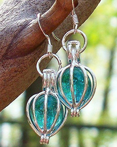 Handmade Earrings Recycled Vintage Mason Jar Silver Drop Earrings
