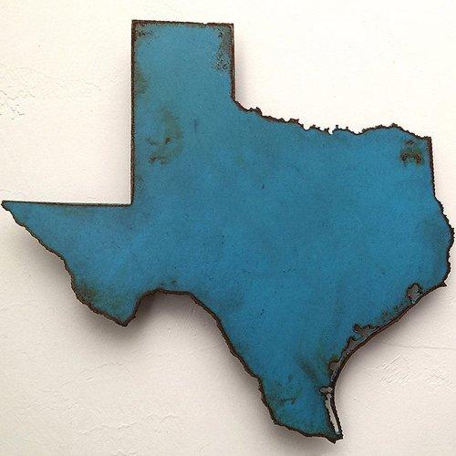 Texas metal wall art 10\